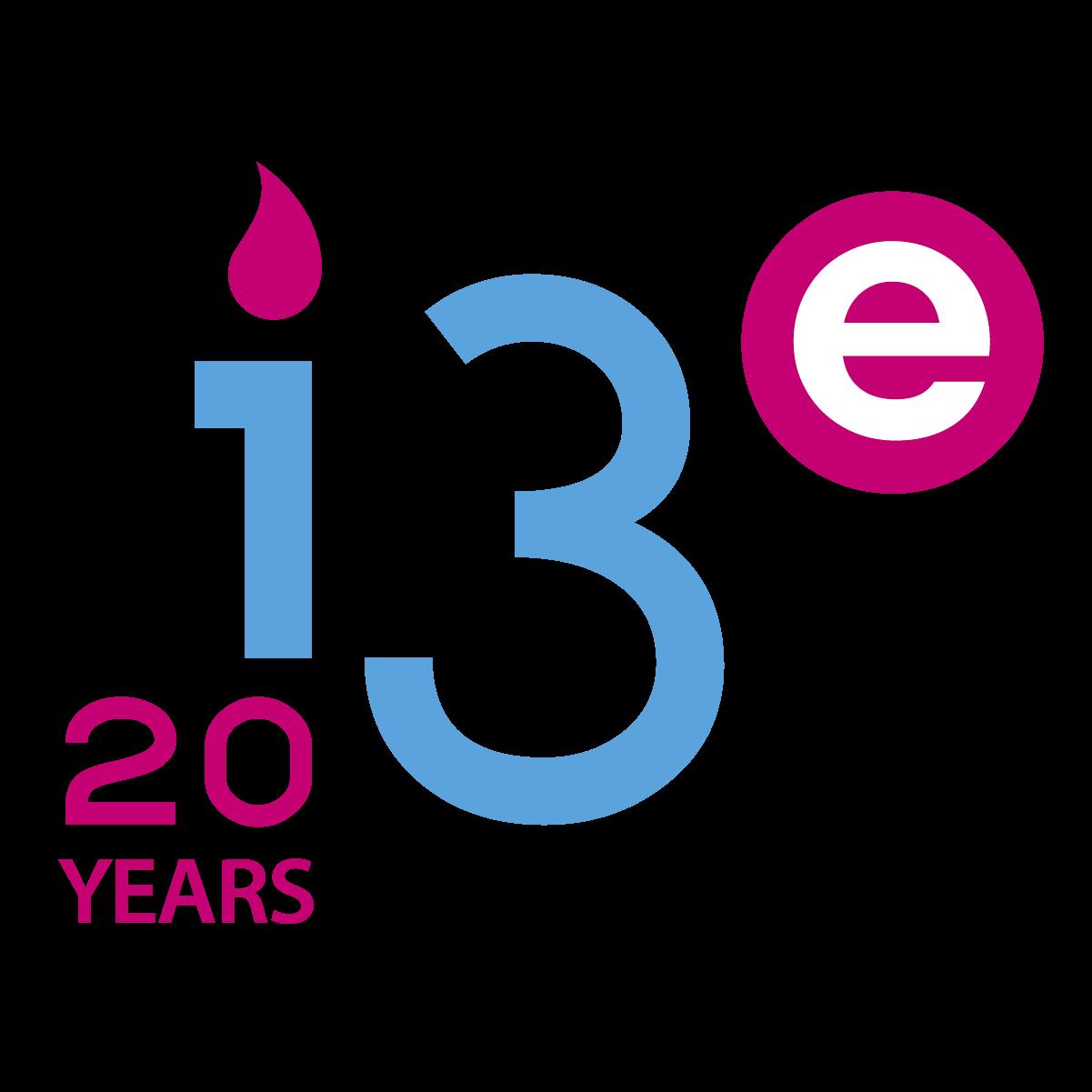 Logo aniversario 20 años I3E